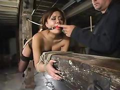 Smoking hot Asian Annie Cruz gets balled by a fucking machine tube porn video