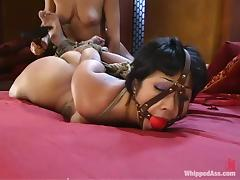DragonLily gets her vagina clothespinned by naughty Sandra Romain tube porn video