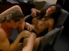 Hot Shy Love gets fucked and facialed in the office tube porn video