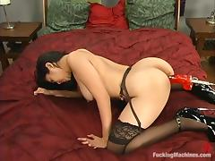 Mika Tan gets her Asian ass drilled by a fucking machine indoors tube porn video