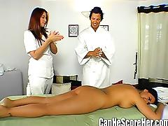 Pornstar Eva Angelina on a Massage Date with a Fan tube porn video