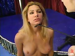 Jenni Lee gets beaten and humiliated by long-haired blonde Chanta-Rose tube porn video