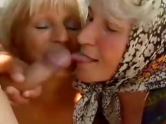 2 Farm Grannies seduced by young man tube porn video