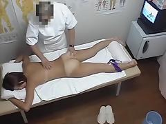 Horny Asian female stretches hairy nub in massage parlor dvd 06 tube porn video