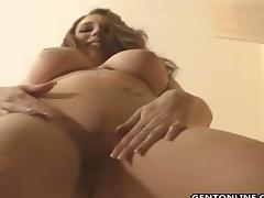 Busty Samantha Rubs Her Awesome Tits tube porn video