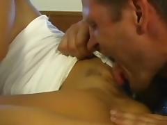 Tanned model Sandra Romain fuck in her trimmed hole tube porn video