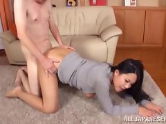 Creepy horny grandpa fucks Asian hottie tube porn video