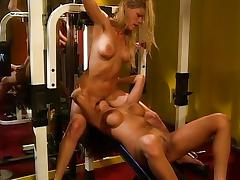 Lesbian having quality time in a gym tube porn video