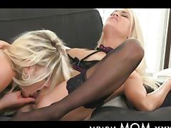 Lesbian MILFs kissing and eating pussy tube porn video