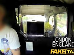 FakeTaxi: Joy time pair in backseat taxi trio tube porn video