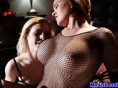 Young lesbian lezdom fetish babes kiss tube porn video