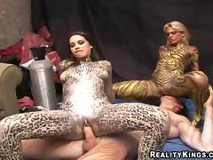 Hot Babes With Body Paintings Go Hardcore In A Reality Video tube porn video