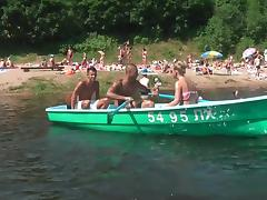 Girl double penetrated while boat trip tube porn video