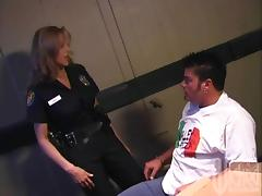 Naughty MILF Cop With Big Tits Fucking Her Prisoner tube porn video