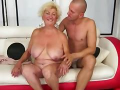 Hawt Breasty Curvy Grannt Gangbanged On Daybed tube porn video