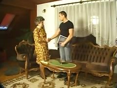 Granny in nylons & with shaggy muff drilled with dude tube porn video