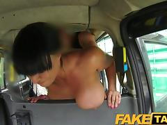 FakeTaxi - Busty Brunette loves Scottish cock tube porn video