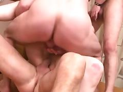 three Boys Fucking Her on the Kitchen Table FYFF tube porn video