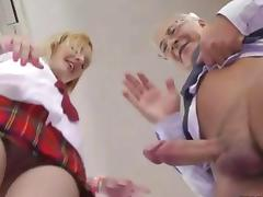 Teen schoolgirl in heels gets her pussy old man stuffed tube porn video
