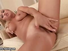 Blonde fucking herself like crazy in solo action tube porn video