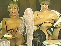 Two retro chicks in stockings get nailed by two men tube porn video