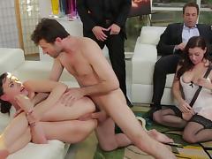 Sexy glamorous babes are sucking big dicks tube porn video