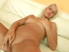 Two guys pissing on a naughty blonde tube porn video