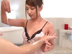 Sexy milf Miku Hasegawa enjoys younger stud tube porn video