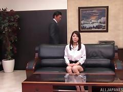 Busty Kokoro Maki enjoying a good office fuck tube porn video