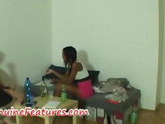 Beautiful ebony at the erotic casting tube porn video