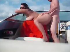 real boat sex MILF tube porn video