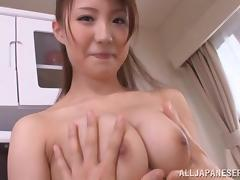 her perky nipples are poking through her shirt tube porn video
