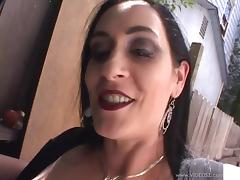 Busty milf Slut Raven sucks a dick and gets fucked doggy style tube porn video