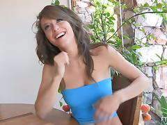 Malena is going to flash out her hot ass under miniskirt tube porn video