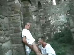 Three guys fuck each others asses in ancient ruins tube porn video