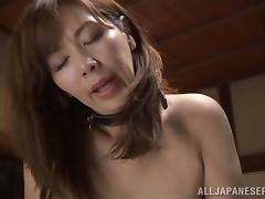 Lovely Japanese Cougar In Fishnet Stockings In Threesome tube porn video