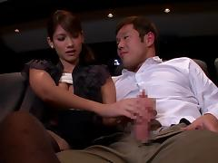 shy japanese lady sucking a cock in the cinema tube porn video