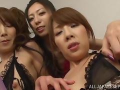 Noa Misa and Yuki Shiho hot Asian group action tube porn video