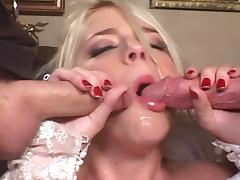 Two masked guys pounded gorgeous blonde bride tube porn video