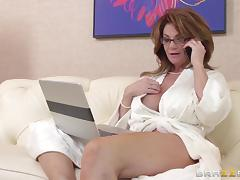 Busty cougar Deauxma gets hammered hard by Keiran Lee tube porn video