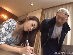 Asian Cutie In Sexy Pantyhose Gets A Nasty Cumshot tube porn video