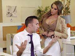Terrific office sex scene with busty cougar Madison Ivy tube porn video