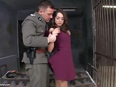 Mouthwatering Foxy Di Goes Hardcore Inside A Prison's Jail tube porn video