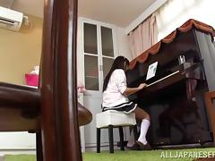 Asian Teen Couple Fucking On The Piano Table tube porn video