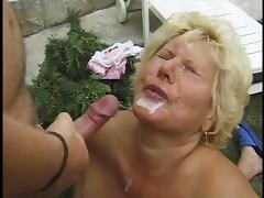 HUNGARIAN BBW GRANNY LOTTA FUCKED BY 2 MEN tube porn video
