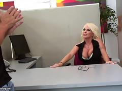 Hot office sex with the busty blonde Holly Halston tube porn video