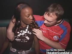 Fit Black Chick Gang Bang in Theater! tube porn video