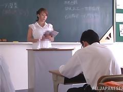 Horny Japanese Teacher Inserts Sex Toy Hardcore tube porn video