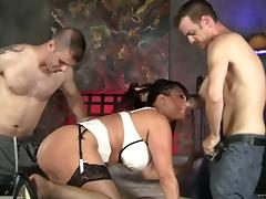 Ava Devine gets face-fucked, sandwiched and facialed tube porn video