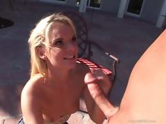 Cassie Courtland licks a weiner and enjoys rear banging tube porn video